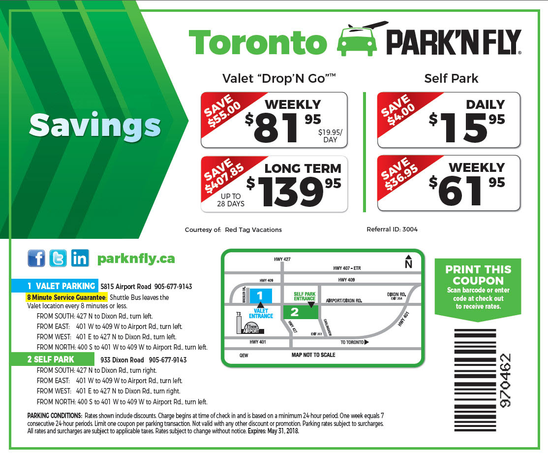Pearson Airport Parking Coupon Code